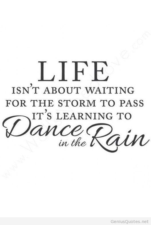 Wall Quotes Wall Decals   Waiting For The Storm.Love Dancing In The Rain ♡