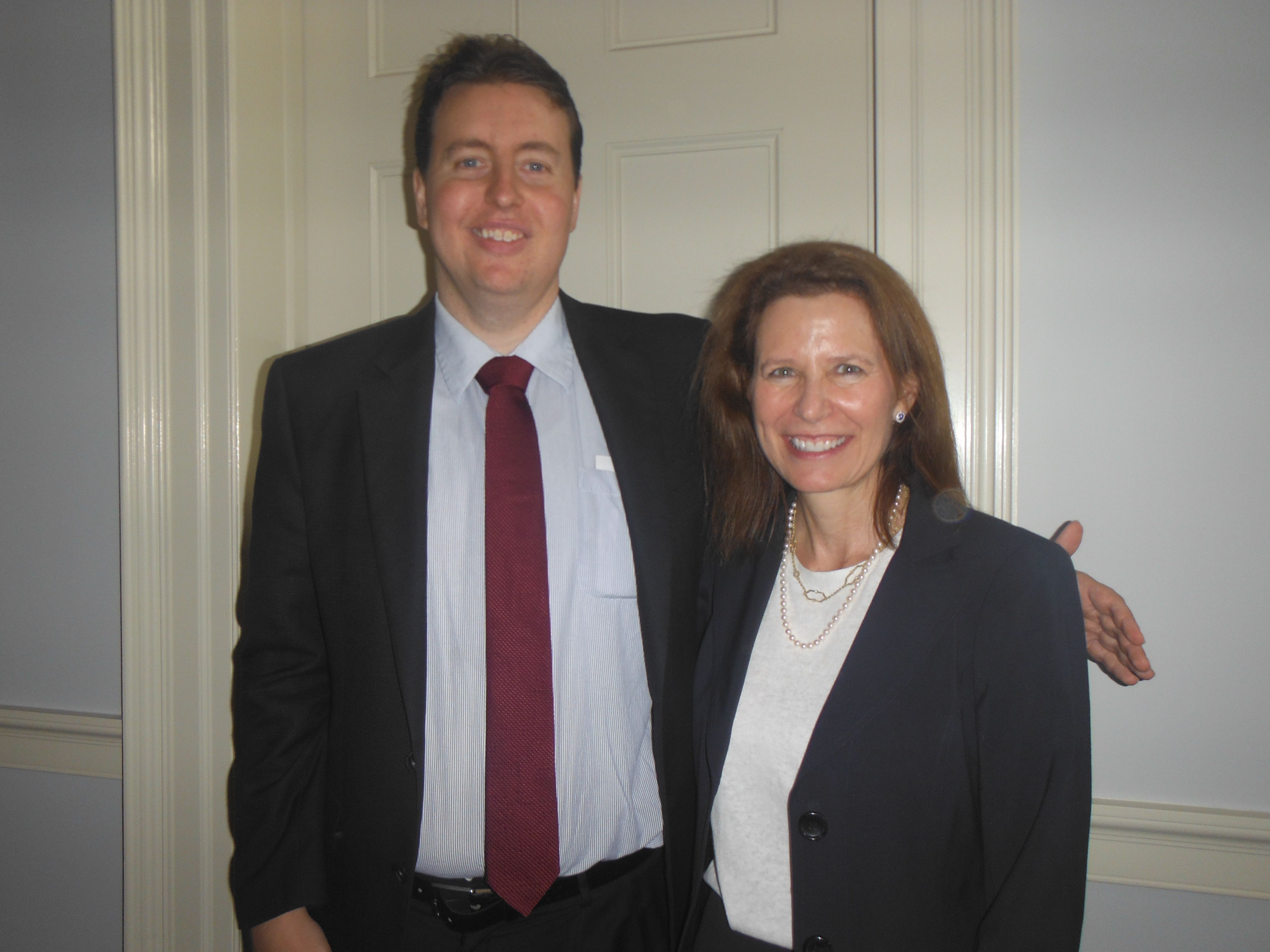 Attorney Evan Guthrie with Honorable Ellen Steinberg of South
