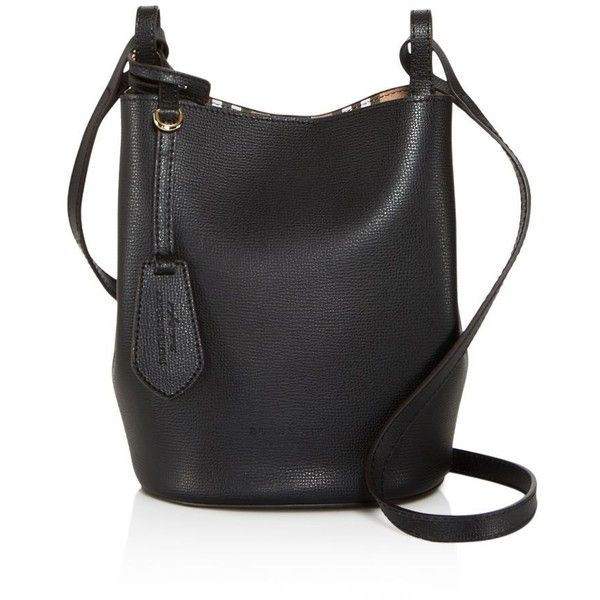 ea403c8f40b6 Burberry Lorne Haymarket Check Small Leather Bucket Bag ( 850) ❤ liked on Polyvore  featuring bags