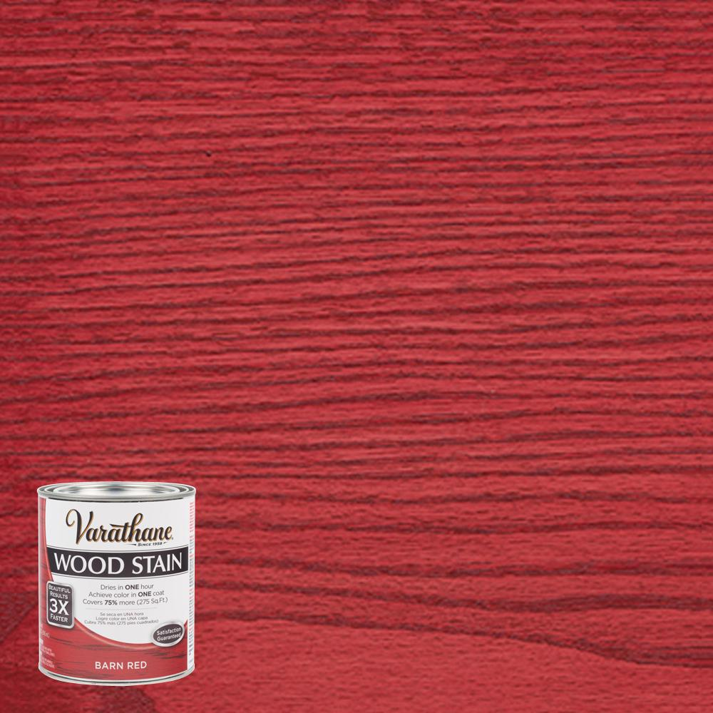 Varathane 1 Qt Barn Red Premium Fast Dry Interior Wood Stain 300382 The Home Depot Staining Wood Interior Wood Stain Red Wood Stain