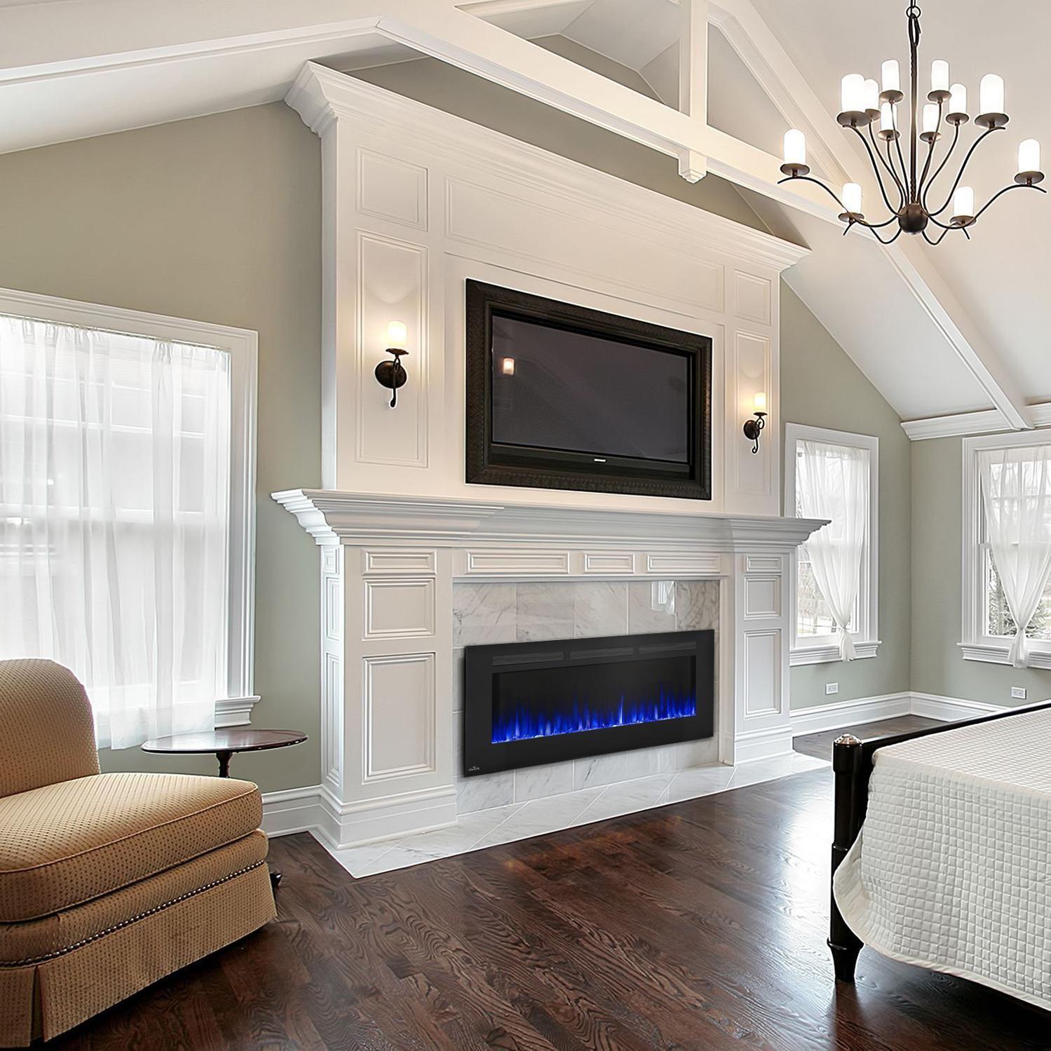 linear see thru fireplace