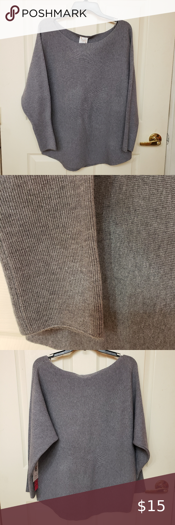 3 for $20 Siren Lily Maternity gray pullover Large Maternity must have Crew neck…  – Motherhood