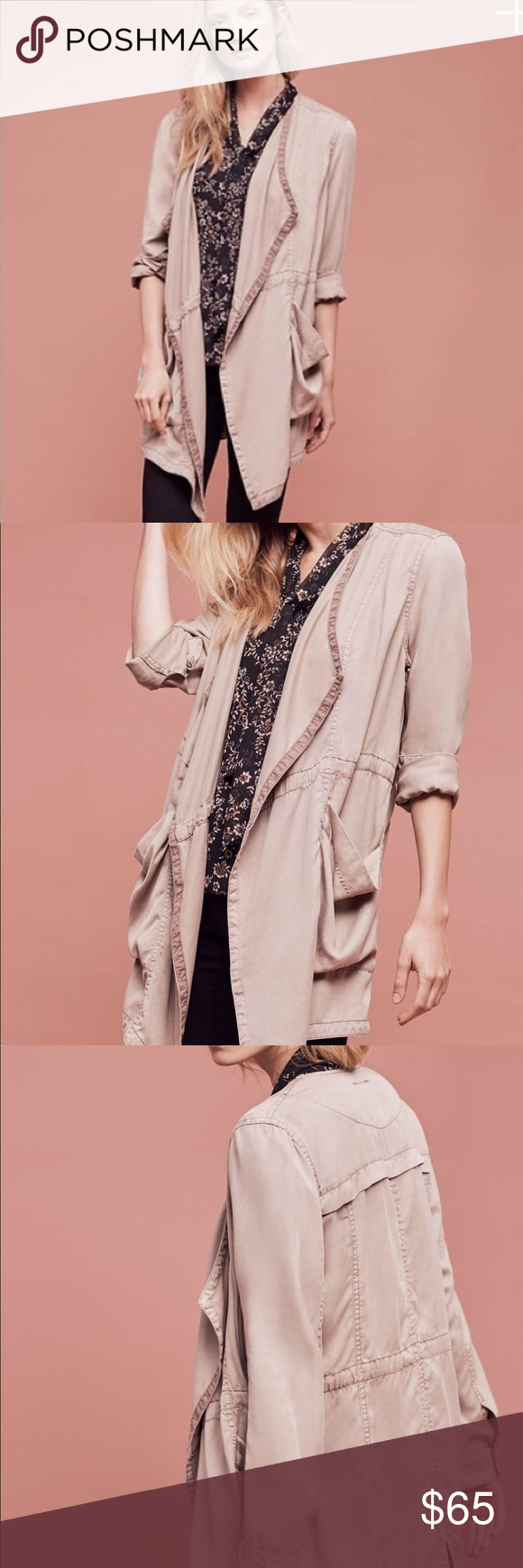 Hei Hei Morgan Trench Coat Draped trench coat from Anthropologie. Brand new conditions without tag. Anthropologie Jackets & Coats Trench Coats