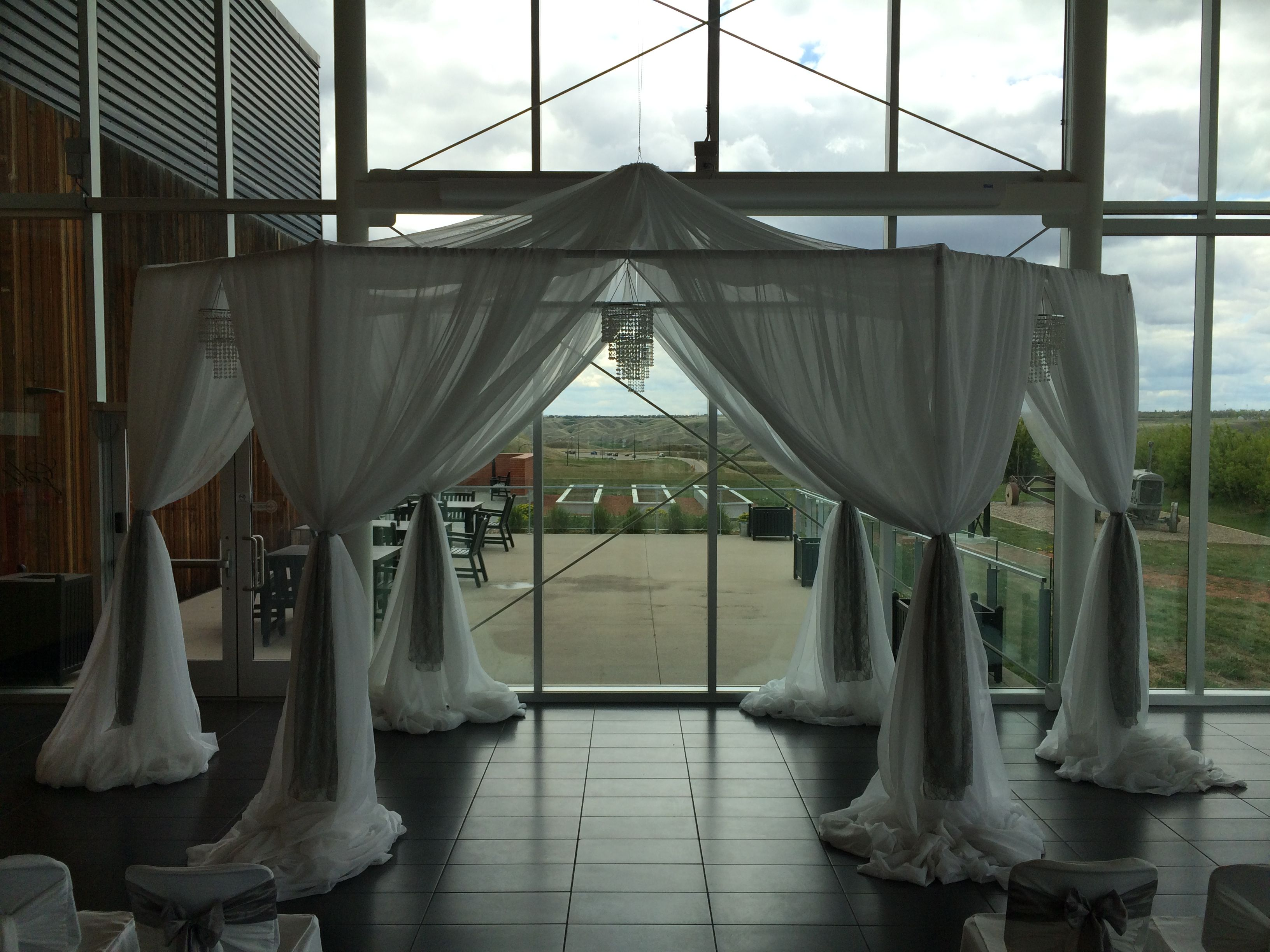 Wedding Canopy Bliss #lethbridgeeventrentals