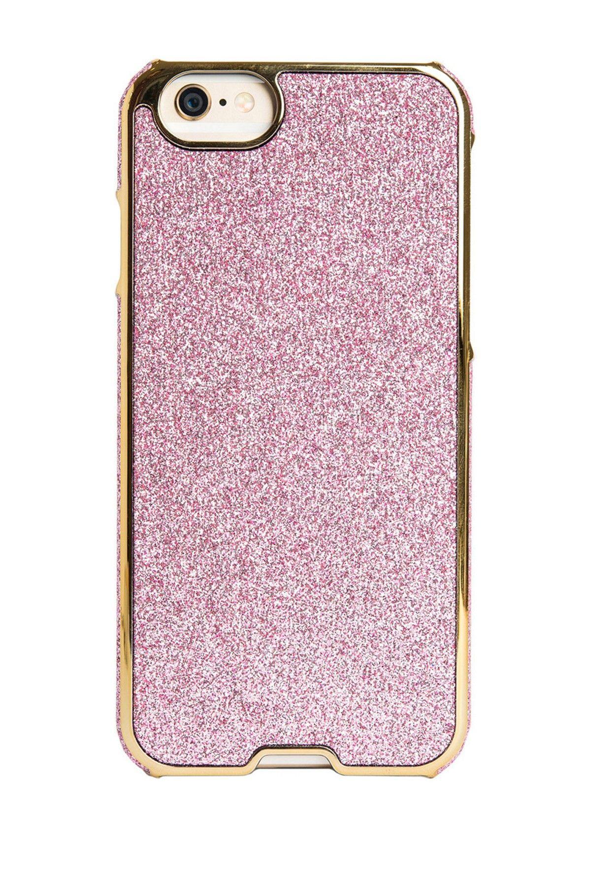 iphone se pink glitter case