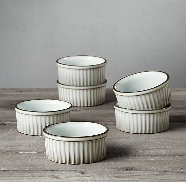 Revol Classic French Porcelain Ramekin Set Of 6 Dinnerware Porcelain Dinnerware Porcelain