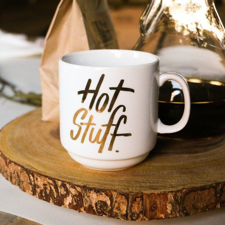 """Gold foil. Of course. Mug Height 3.625"""" Not a fan of"""