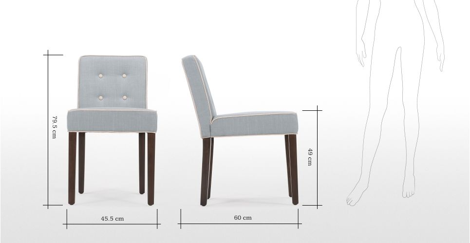 2 X Hoxton Dining Chairs Persian Grey Made Com