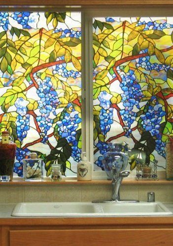Wisteria Stained Gl Window Film By Artscape 31 59 This Decorative Provides