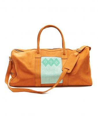 Classic Tan Leather Weekend Bag