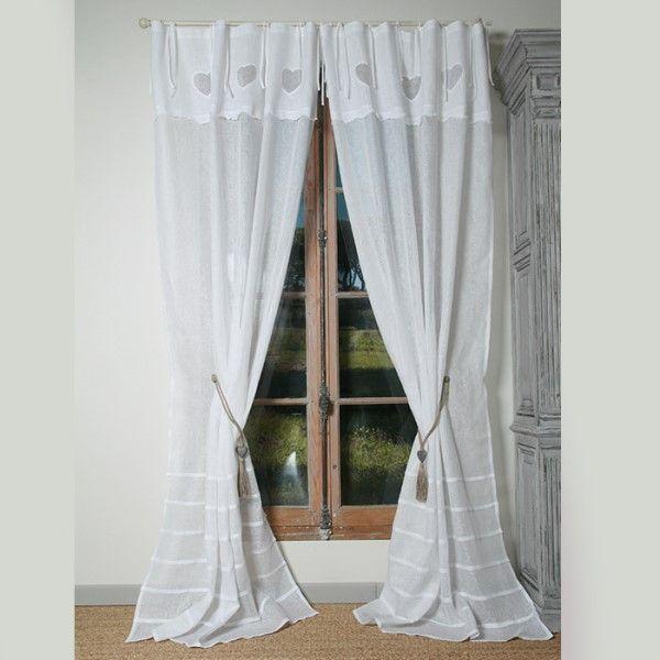 rideau romantique coeur les ateliers du lac rideaux pinterest rideaux romantiques les. Black Bedroom Furniture Sets. Home Design Ideas