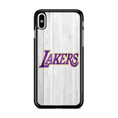 Los Angeles Lakers Nba Logo White Wood Wallpaper 3 Iphone Xs Max Case Miloscase