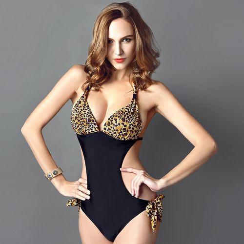 Barato Hot One Piece Swimsuit mulheres verão estilo Plus Size mulheres Swimwear maiô preto 2015 Sexy de uma peça fatos de banho Biquini, Compro Qualidade Maiôs diretamente de fornecedores da China:                                                   &nbs