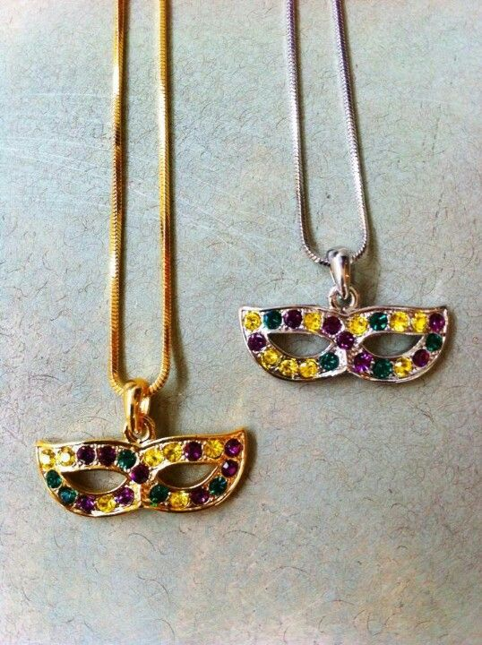 Mardi Gras mask necklace