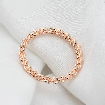 Promise Ring Rose Gold Plated Chain Design, USD15.99 Before Discount, FREE Shipping, FREE Returns