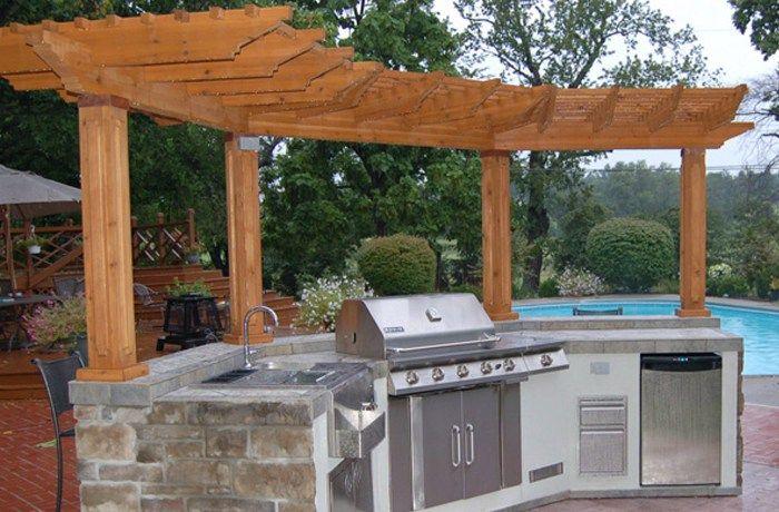 Pillars On Back Part Pergola Backyard Pool Designs Diy Pergola Kits