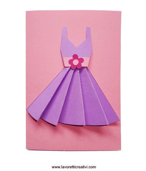 Открытка платье из бумаги на 8 марта, открытки анимационную открытку