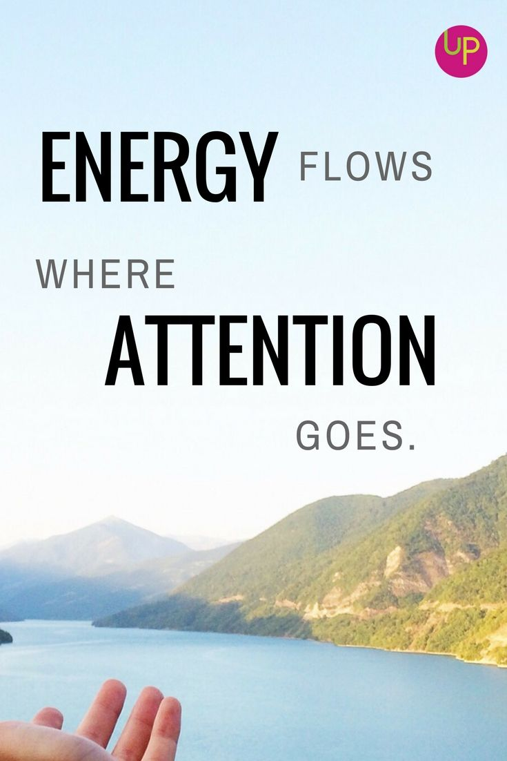 Energy Flows Where Attention Goes Energy Purpose B A C K To B