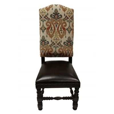 Fine Jakobe Fabric Leather Old World Dining Chair In 2019 Old Gmtry Best Dining Table And Chair Ideas Images Gmtryco