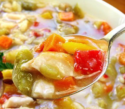 This chicken soup recipe combines chicken broth and two kinds of canned soup with fresh vegetables and other tasty ingredients for an easy yet delicious homemade chicken soup recipe. The cheddar cheese soup adds a creamy flavor to the soup and the fresh vegetables keep it wholesome and tasty.