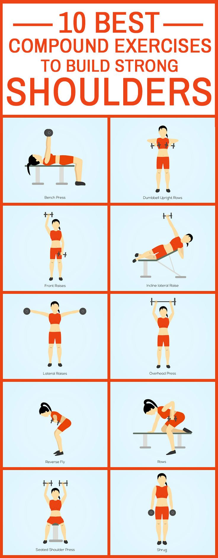 10 Best Compound Exercises To Build Strong Shoulders Cardio