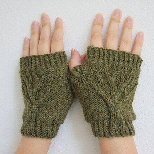 Tree Of Life Knitting Pattern : Tree of Life Fingerless Gloves Knit Pattern PDF Patterns ...