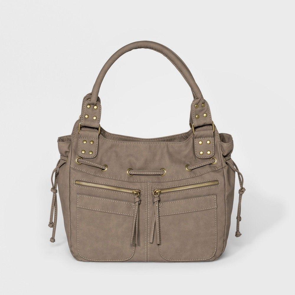 ef4ddf1afa85 Bueno Nubuck Washed Hobo Handbag - Mushroom (Brown)  RedLeatherHandbags