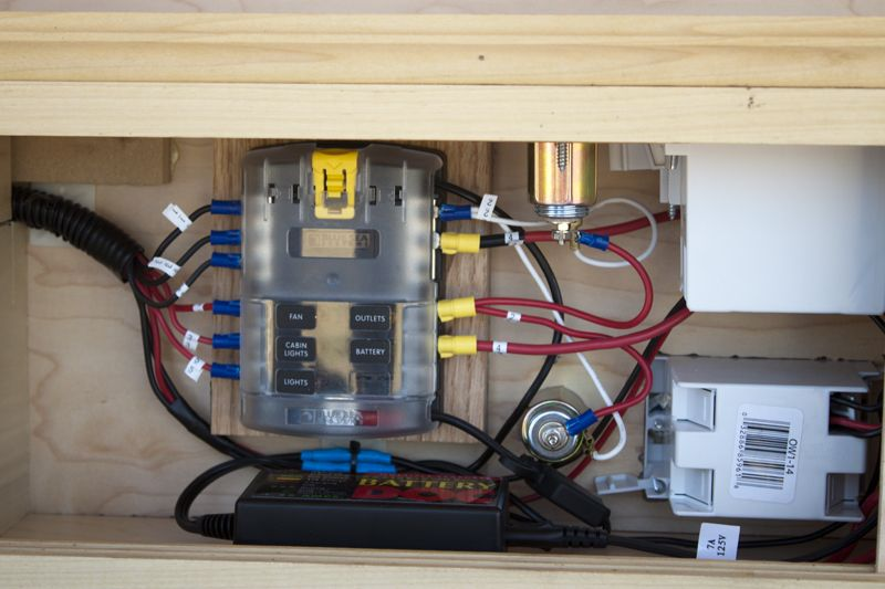 Electrical Fuse Block & Labeled Electrical | Teardrop Campers ...