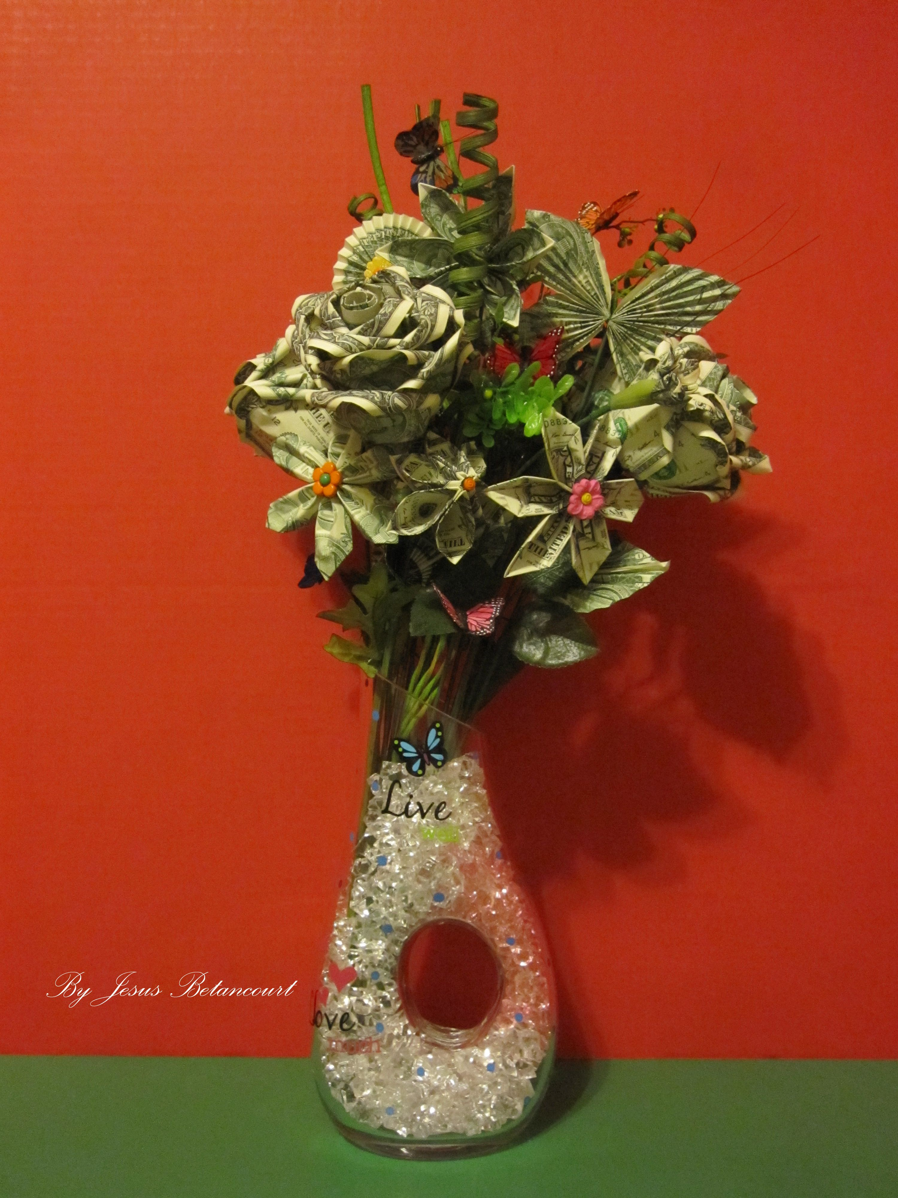 Flowers made of real dollar bills dollar origami pinterest flowers made of real dollar bills mightylinksfo Choice Image