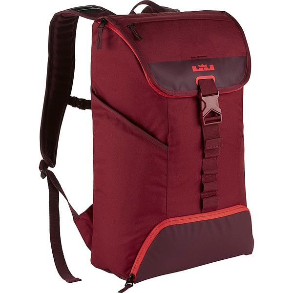 32a0612e5fb0 Nike Lebron Ambassador Max Air Backpack - Team Red Night Maroon Lt... ( 71)  ❤ liked on Polyvore featuring bags