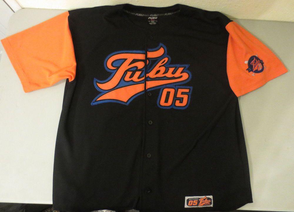 1f833c86f FUBU Sports mens XXL Baseball Jersey Rap Hip-Hop Official 05 METS 100%  Polyester  FUBU  Jerseys