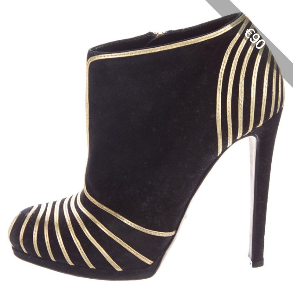 Pre-owned - Black Suede Heels Sergio Rossi DW92nh