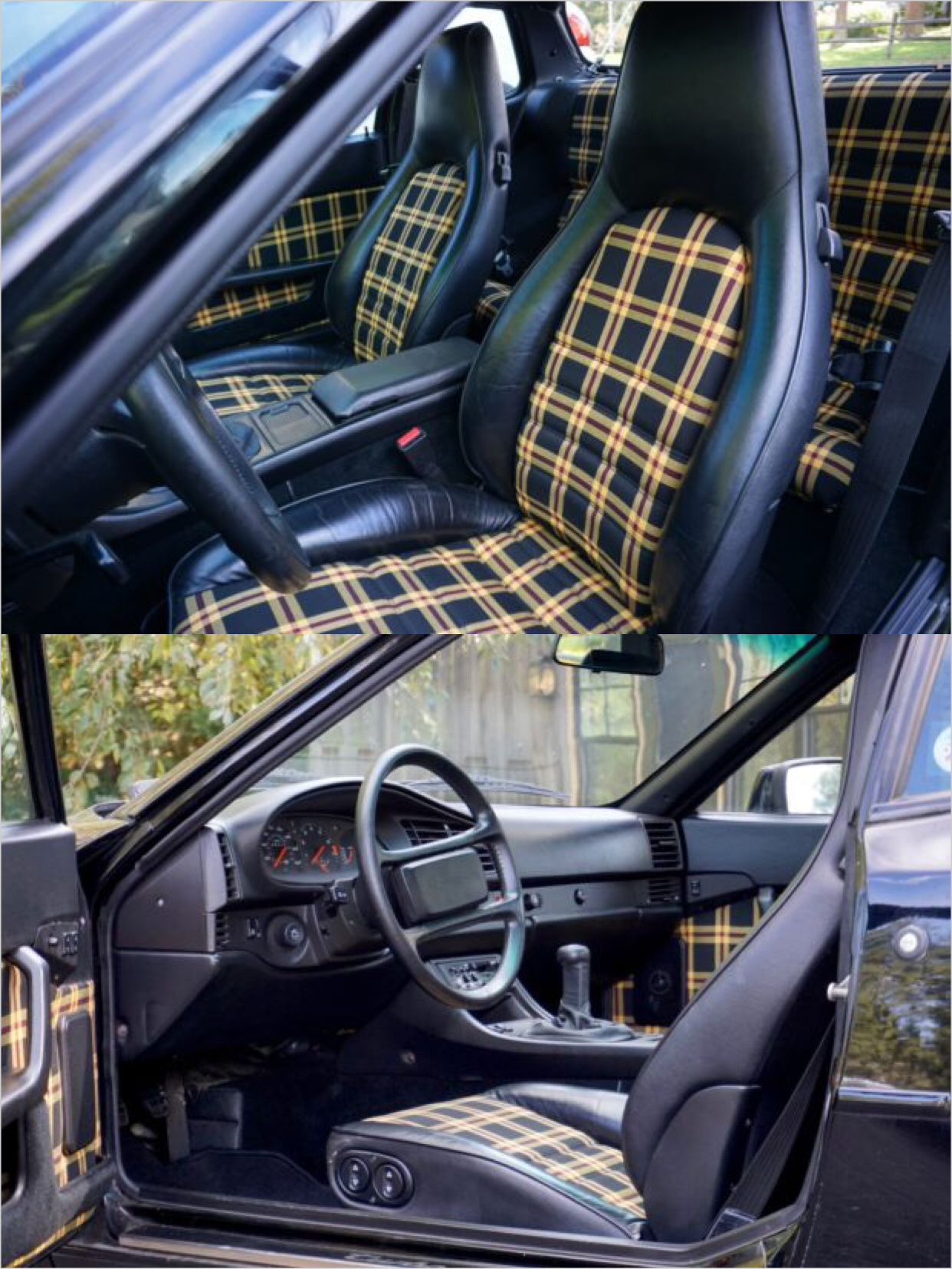 Porsche 944 Custom Plaid Tartan Interior Seat Inserts And Door Panels Porsche 944 Porsche Porsche 924
