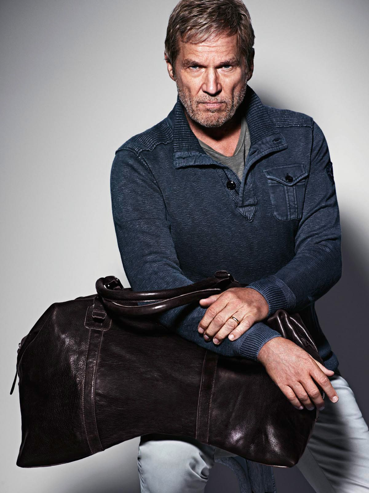 Jeff Bridges for the Marc O Polo Spring Summer 14 Accessories Campaign   followyournature  casual  weekender 493919790d