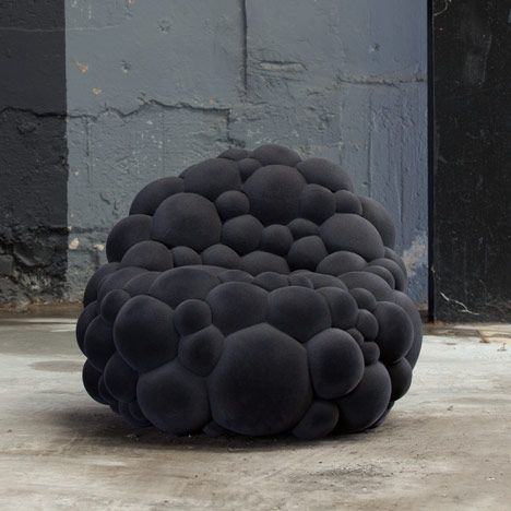Mutation By Belgian Designer Maarten De Ceulaer. Each Piece In The Mutation  Series Is Made From Foam Spheres, Cut So They Fit Together, Attached To A  Frame ...