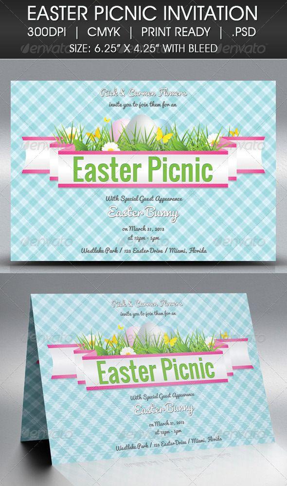 Easter Picnic Invitation Picnic invitations, Picnics and Easter - easter invitations template