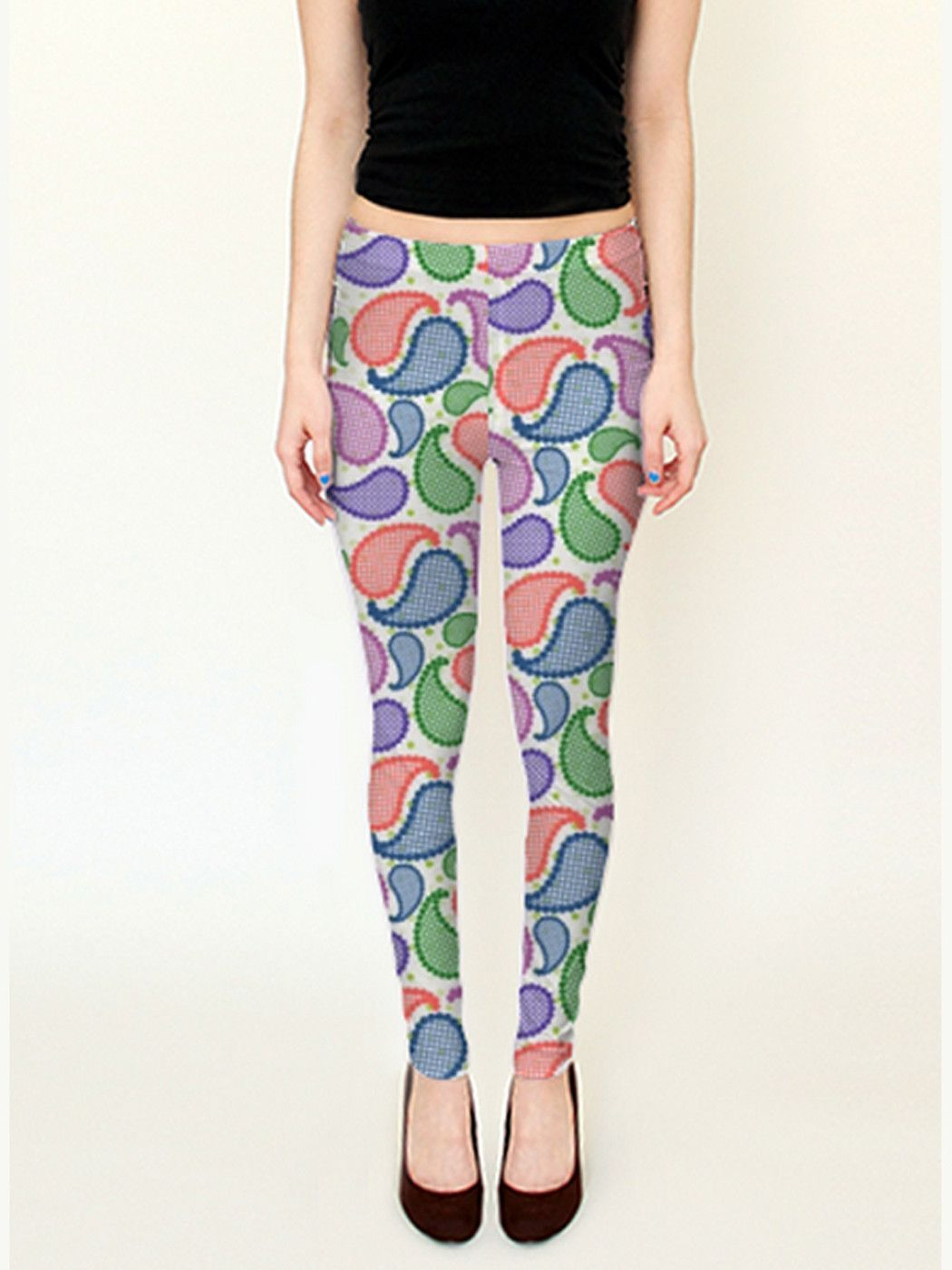 Bubble Paisley Droplets Leggings