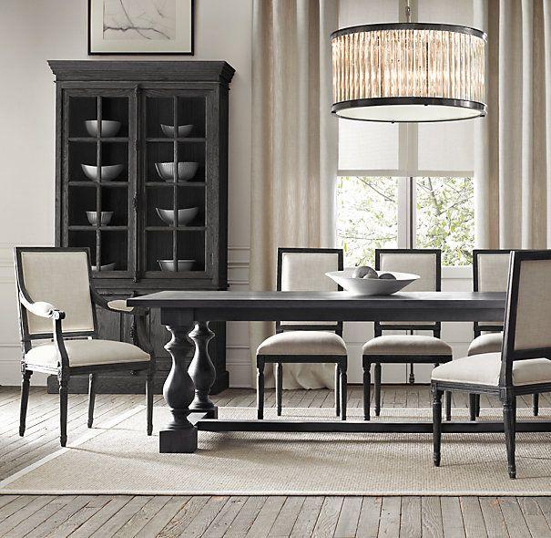 Vintage French Square Upholstered Side Chair Restoration Hardware Dining Room Restoration Hardware Dining Chairs French Dining Chairs #restoration #hardware #living #room #chairs