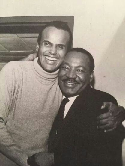 Harry Belafonte and dr. Martin Luther King jr. | Black history ...