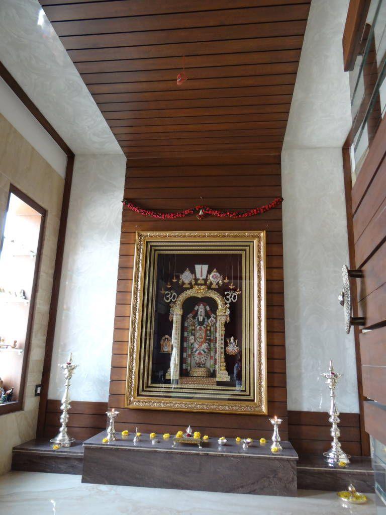 The internal walls of the pooja room modern walls & floors