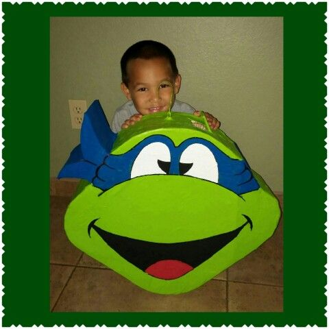Teenage Ninja turtle pinata for my Noah's 4th birthday party.