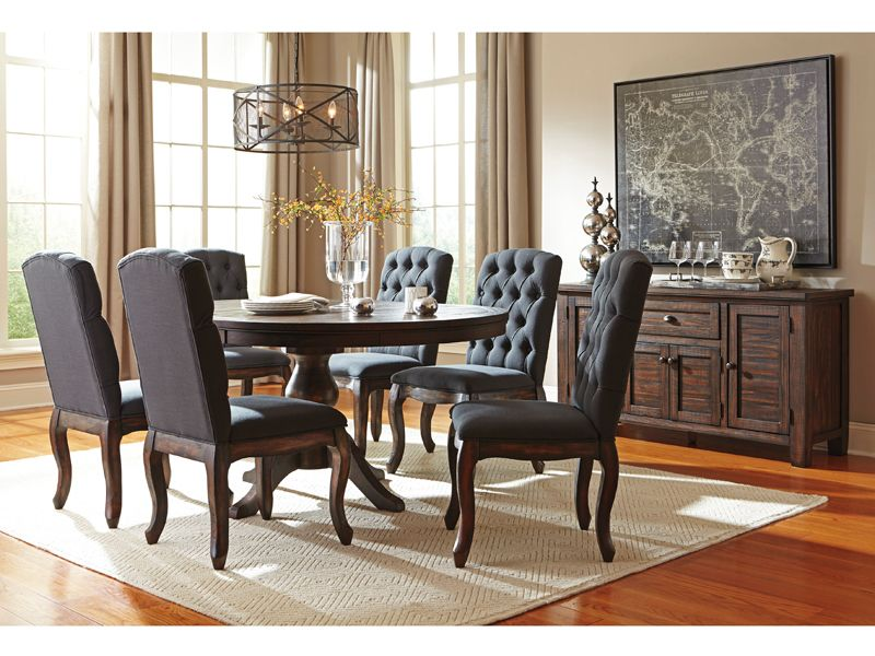 Chateau  Freed's Furniture  Furniture  Pinterest  Solid Pine New 7 Piece Round Dining Room Set Decorating Design