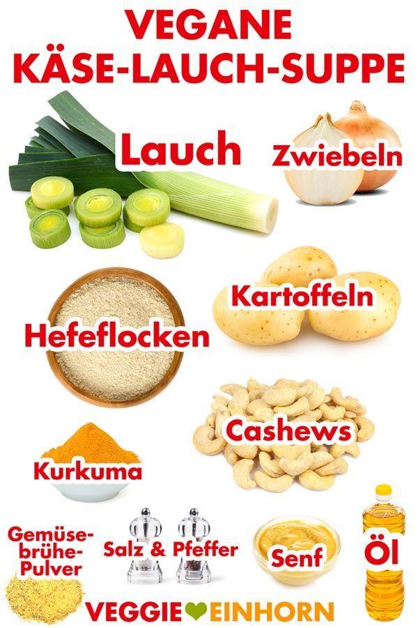 Vegane Käse-Lauch-Suppe mit Kartoffeln #veganerezepte