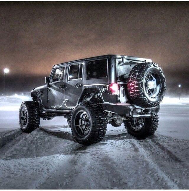 Custom Jeep Jk In The Snow Jeep Suv Jeep Cars Jeep