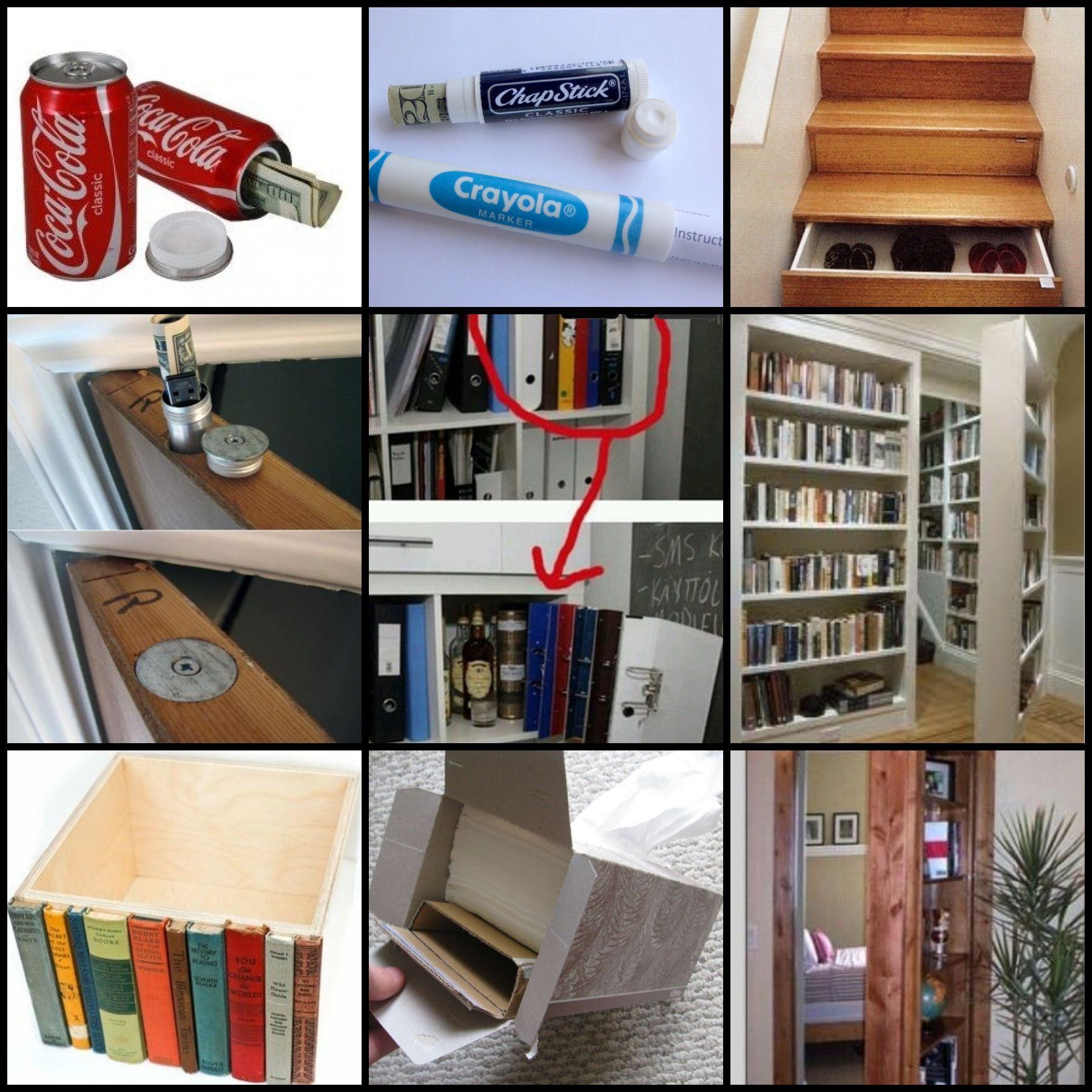 Secret hiding places | DIY Projects | Pinterest | Escondites, Utiles ...