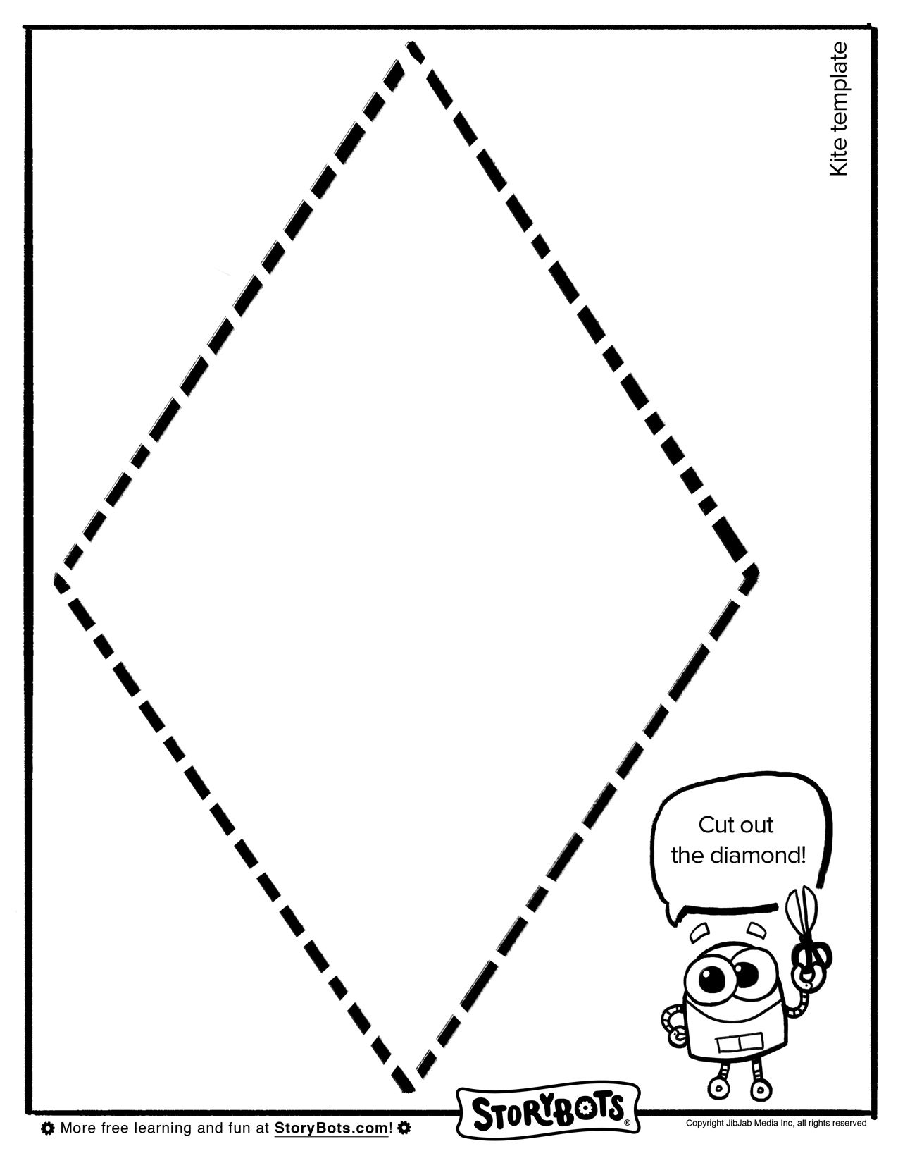 Make Your Own Kite Template Summer Activity Sheets Pinterest