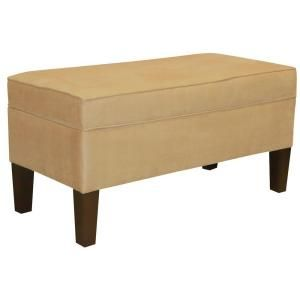 *Home Decorators Collection Saddle Microsuede Storage Bench-848PSAD at The Home Depot ($229)