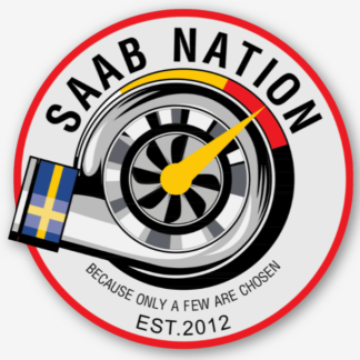 Saab Nation Sticker Saab Nation Saab Automobile Saab Saab 900