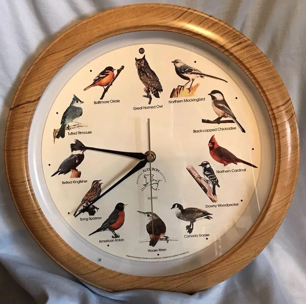 National Audubon Society Singing Bird Clock Works | eBay ... on house wren house plans, purple martin house plans, pvc bluebird house plans, national wildlife bird house plans,