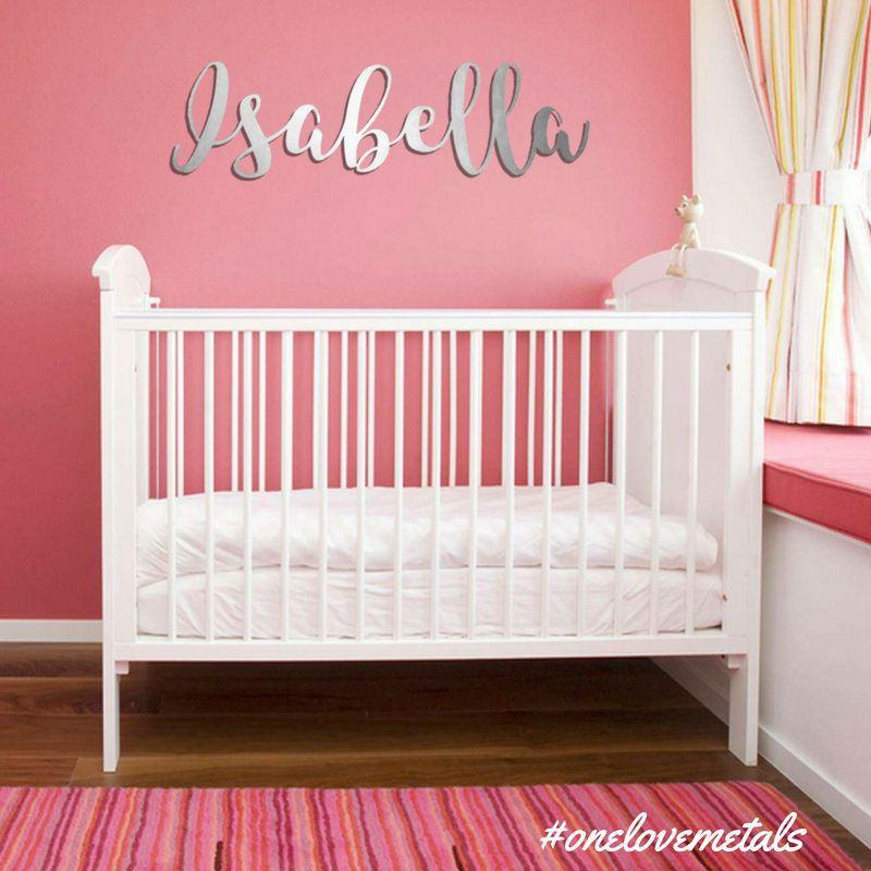 This extra large metal wall art is a personalized baby name sign and this extra large metal wall art is a personalized baby name sign and the highlight of negle Choice Image